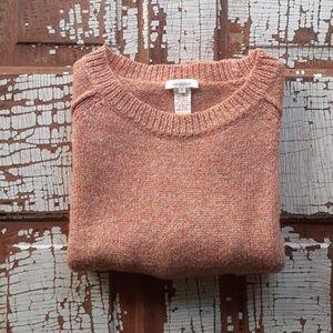 Sundance knit side slit pullover sweater small